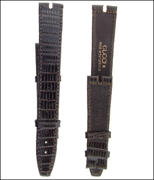Gucci 16mm Brown Watch Band ID.1180