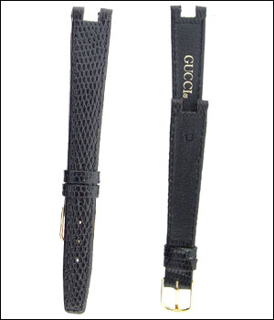 Gucci 13 mm Black Watch Band ID.1184