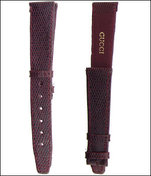 Burgundy 16mm Lizard Watch Band ID.1187