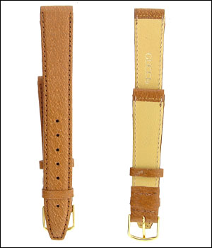 Gucci 16mm Tan Watch Band ID.1189