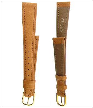 Gucci Tan 16mm Watch Band ID.1191