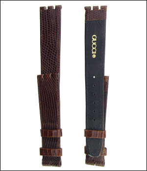 Gucci Brown 17mm Watch Band ID.1194