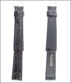 Gucci Black Croco 17mm Watch Band ID.1195 - OUT OF STOCK