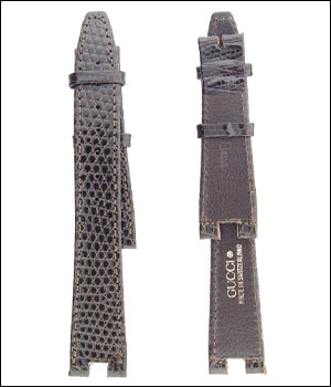 Gucci 18mm Lizard Brown Watch Band ID.1196