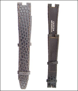 Gucci 18mm Brown Lizard Watch Band ID.1199