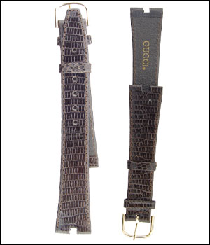 Gucci 18mm Watch Band Brown ID.1200