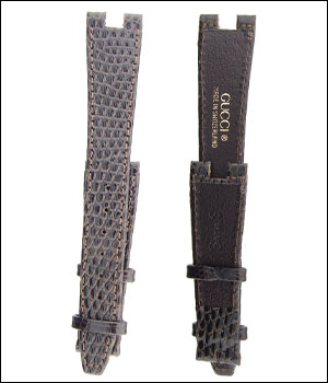 Gucci 18mm Lizard Brown Watch Band ID.1201