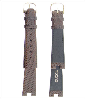 Gucci 18mm Light Brown Watch Band ID.1203