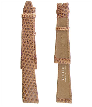 Gucci 19mm Light Brown Lizard Watch Band ID.1206