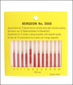 Bergeon 3008 (ID.367) Pivot Cutting Broach set