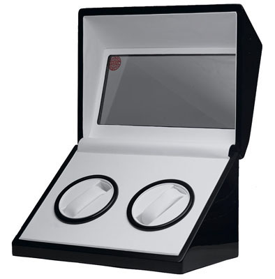 Black Double Watch Winder - Glossy