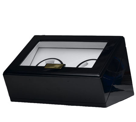 Black Double Watch Winder - Individual Controls