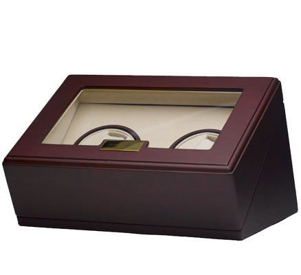 Cherry Double Watch Winder - Individual Controls